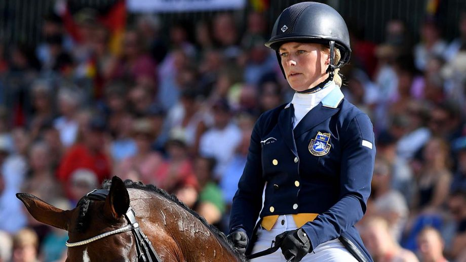 Sweden's Sara Algotsson-Ostholt and her horse Reality 39