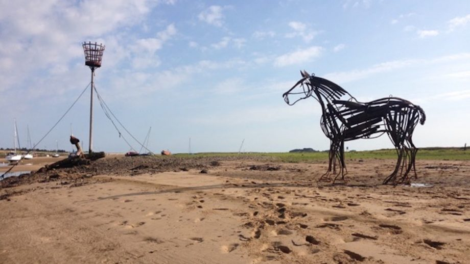 Seaside town gives 'Lifeboat Horse' sculpture a permanent home