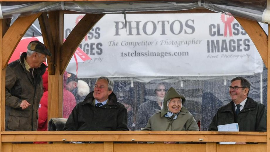 Queen enjoys showing success on a wet Windsor Wednesday
