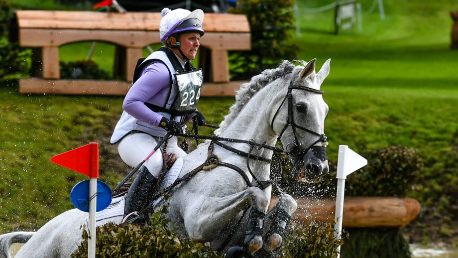 Gemma Tattersall riding QUICKLOOK V in CCI-S4* Section C at the EQUITREK Bramham International Horse Trials in Bramham Park near Wetherby in West Yorkshire in the UK between the 6 - 9th May 2019