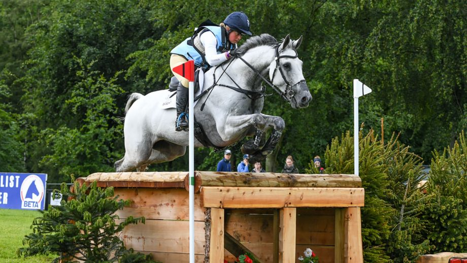 Kitty King riding VENDREDI BIATS in CCI-L4* Section A at the EQUITREK Bramham International Horse Trials in Bramham Park near Wetherby in West Yorkshire in the UK between the 6 - 9th May 2019