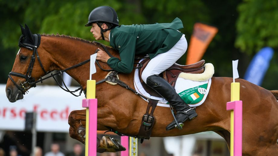 Cathal (IRL) Daniels riding RIOGHAN RUA in CCI-Lu25 4* Section B at the Bramham International Horse Trials in Bramham Park near Wetherby in West Yorkshire in the UK between the 6 - 9th May 2019