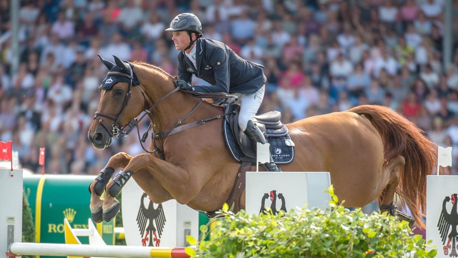 Ben MAHER riding Explosion W GBR 3rd in the Rolex Grand Prix Showjumping during the Aachen CHIO in Aachen in Germany between 18 - 21st July 2019