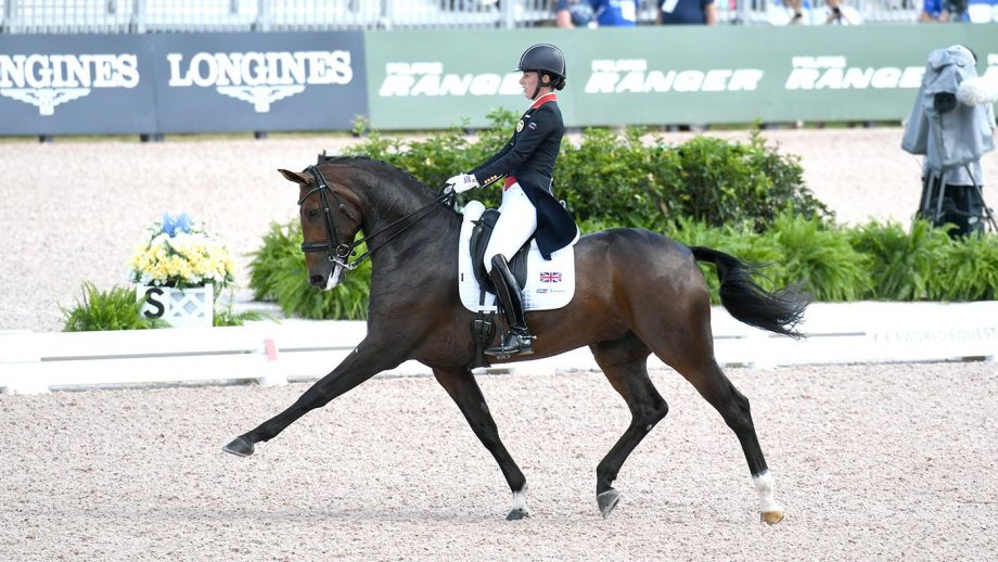 Charlotte DUJARDIN (GBR) riding MOUNT ST JOHN FREESTYLE during Grand Prix of Dressage at the FEI World Equestrian Games Tryon 2018 at Tryon International Equestrian Centre, near Tryon North Carolina in the USA between 11th-23rd September 2018