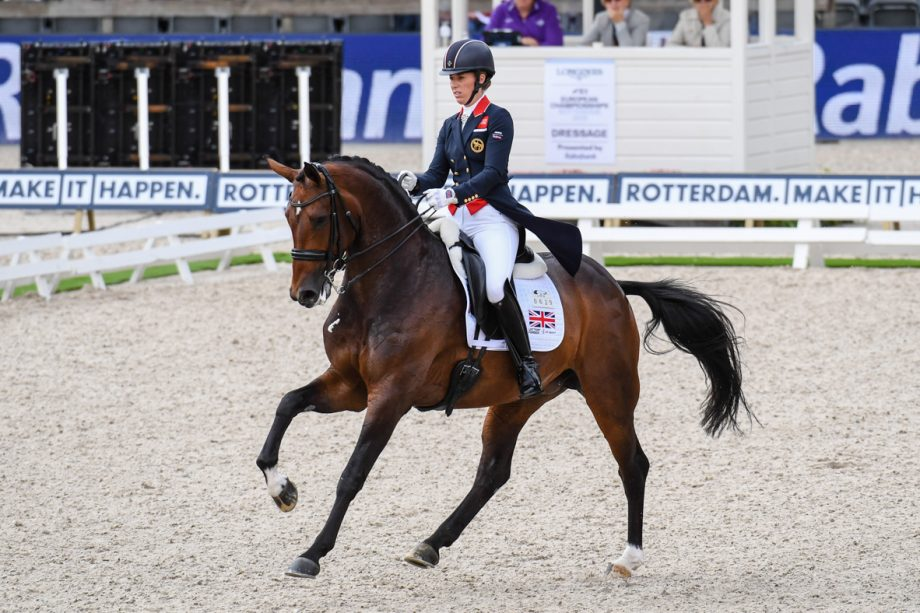 Charlotte Dujardin and Mount St John Freestyle during the grand prix in Rotterdam.