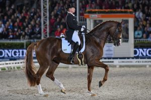Isabell Werth and Bella Rose of their way to winning medals at the 2019 European Championships in Rotterdam.