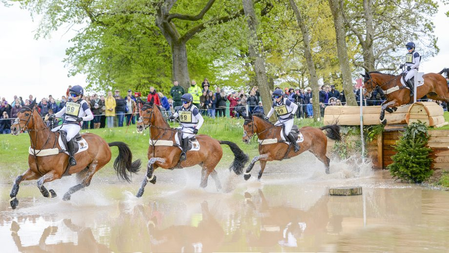 Event horse Mr Bass with Laura Collett at Badminton 2019