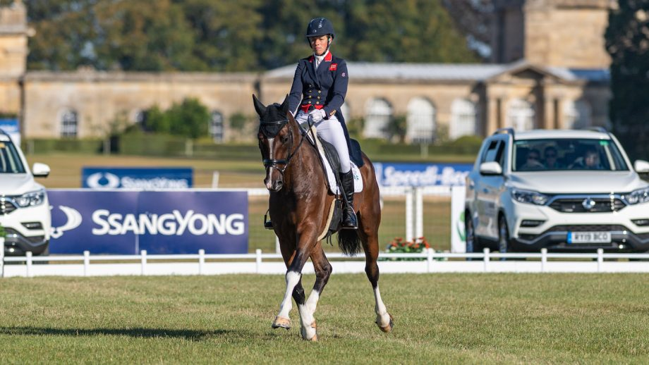 Izzy Taylor commands convincing Blenheim CCI4*-L dressage lead: 'I'm very proud to have him'