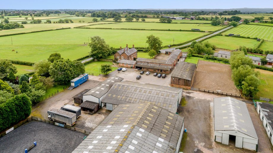 All in the numbers: a Cheshire nest with 3 arenas, 79 stables, 94 acres and 4 bedroom country farmhouse…