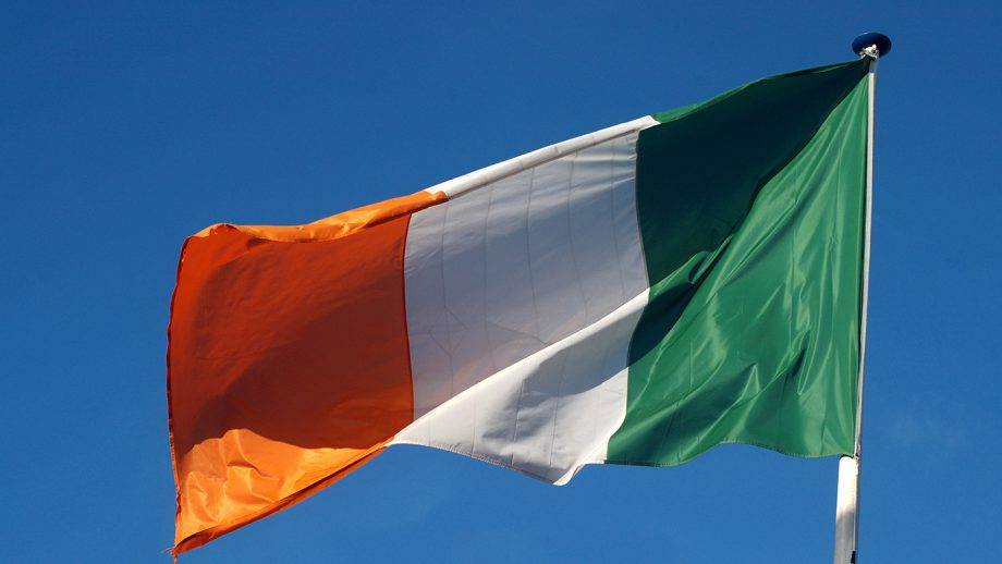 An Irish flag flies as dispute rages on over whether to send a dressage team to the Tokyo Olympic Games