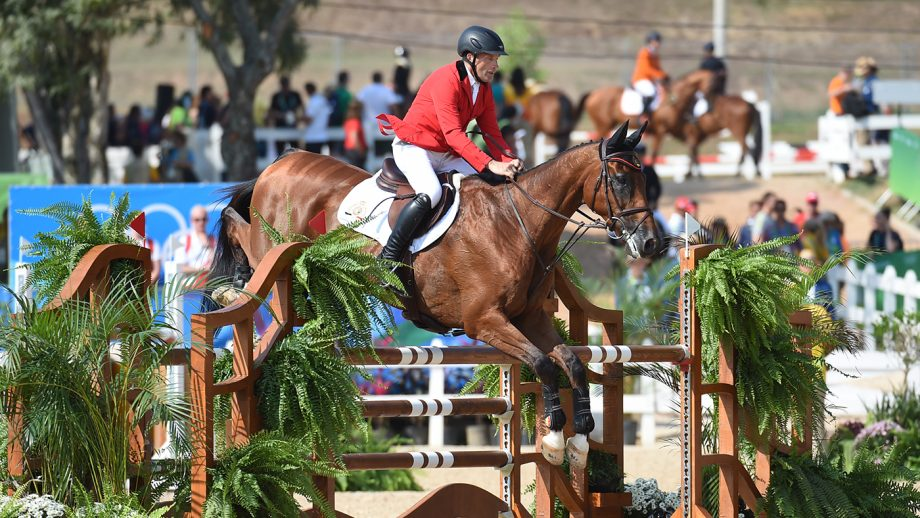 VANSPRINGEL Joris LULLY DES AULNES during the Team Show Jumping Phase of the Eventing Competition at the Olympic Equestrian Centre in Deodoro near Rio, Brazil on 9th August 2016
