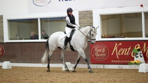 Lorraine Twigg and Jupiter from the Team Quest finals