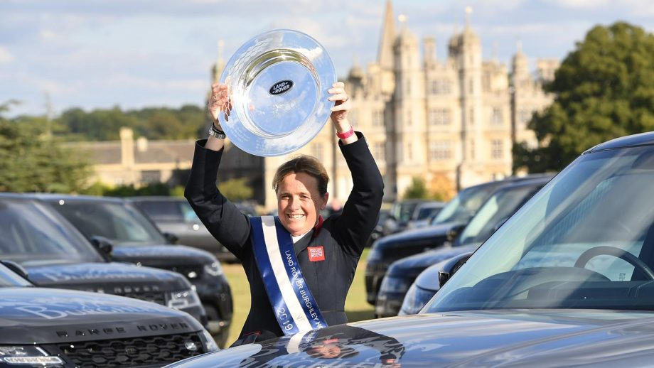 Pippa Funnell (GBR) winner Land Rover Burghley Horse Trials with MGH GRAFTON STREET in the grounds of Burghley House near Stamford in Lincolnshire in the UK between 5 - 8th September 2019