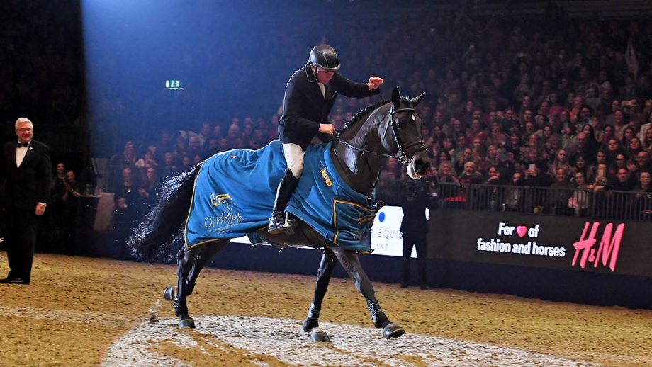 John WHITAKER (GBR) riding Argento, winner of The Ivy Stakes during the Olympia London International Horse Show at Olympia in London between 12th-18th December 2017