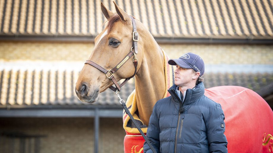 Olympic showjumping Ben Maher pictured at home with his top horse Explosion W