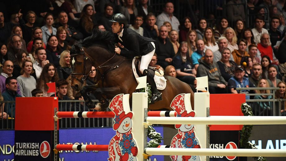 Scott Brash riding Hello Vincent (GBR), winner of The Turkish Airlines Olympia Grand Prix at Olympia, The London International Horse Show held at Olympia in London in the UK, between the 16-22 December 2019