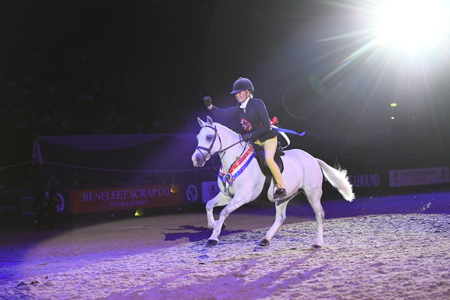 MS CHLOE LEMIEUX riding COCO BONGO, winner of the RUCKLEIGH SCHOOL SUPREME PONY OF THE YEAR during the Horse of The Year Show at the NEC in Birmingham in the UK between the 2nd - 6th October 2019