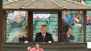 Stephen Clarke judging at the European Championships.