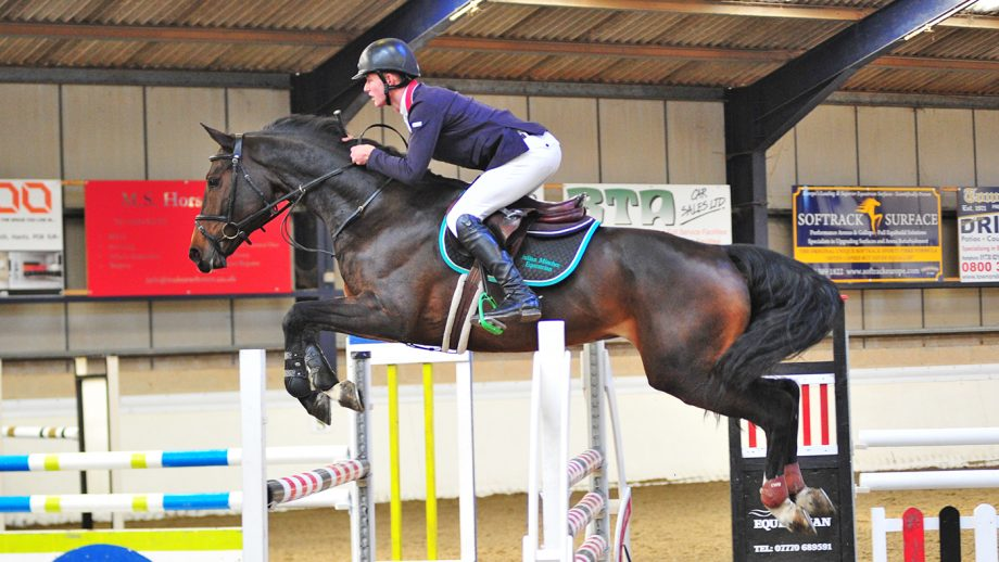 Ben Clark and Come On Vivien, winners of the Blue Chip Karma Performance qualifier at Crofton winter classic 2019