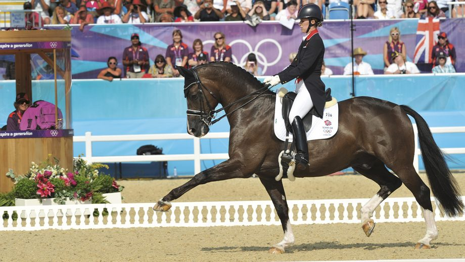 Charlotte Dujardin riding Valegro at London 2012.