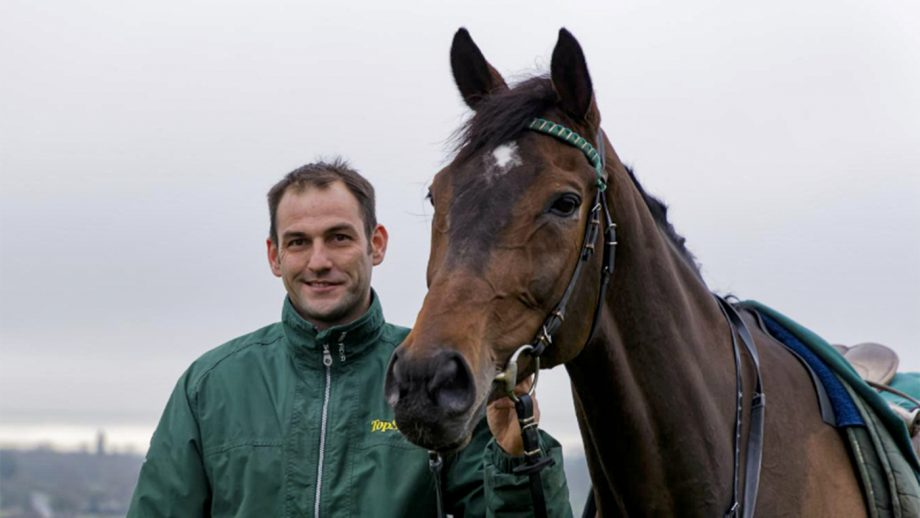 Lady Buttons with her trainer Philip Kirby