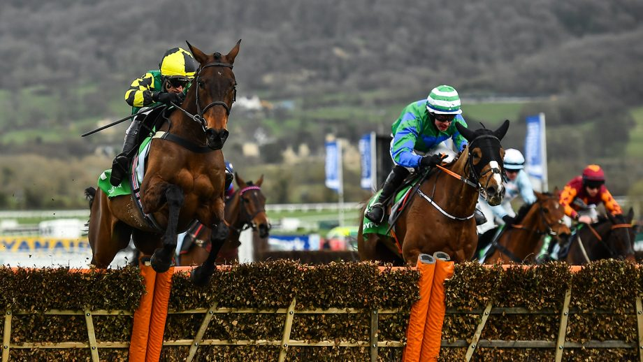 Cheltenham Festival tickets Cheltenham , United Kingdom - 12 March 2020; Lisnagar Oscar, with Adam Wedge up, left, jumps the last ahead of runner-up Ronald Pump, with Bryan Cooper up, on their way to winning the Paddy Power Stayers' Hurdle on Day Three of the Cheltenham Racing Festival at Prestbury Park in Cheltenham, England. (Photo By David Fitzgerald/Sportsfile via Getty Images)