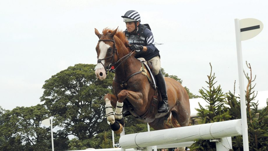 Boyd Martin and Neville Bardos at Burghley 2011.