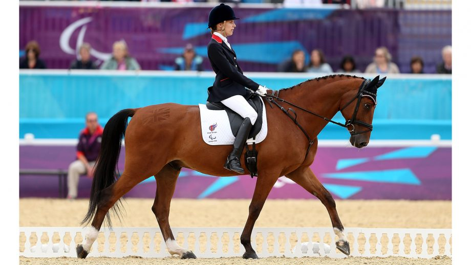 LONDON, ENGLAND - SEPTEMBER 02: Sophie Christiansen of Great Britain during the Dressage Individual Championship Test Grade Ia on day 4 of the London 2012 Paralympic Games at Greenwich Park on September 2, 2012 in London, England. (Photo by Scott Heavey/Getty Images)