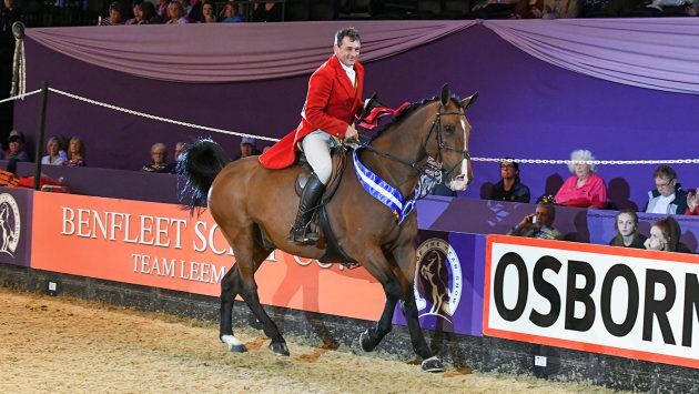 Rory Gilsenan riding ATLANTIC SLIM for owner Rebecca Collins, winner of the Cuddy Working Hunter of the Year Championship at Horse of The Year Show 2018 at the NEC near Birmingham in the UK between 2nd- 7th October 2018