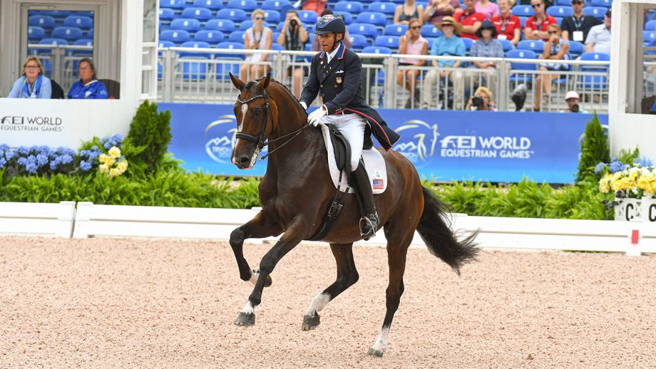 Steffen Peters and Suppenkasper at the 2018 World Equestrian Games.