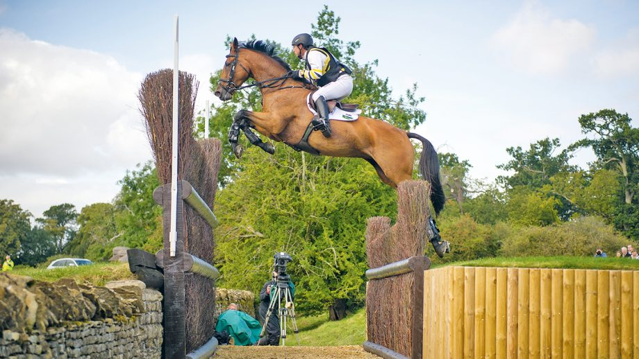 The Cottesmore Leap is one of the most famous Burghley cross-country jumps