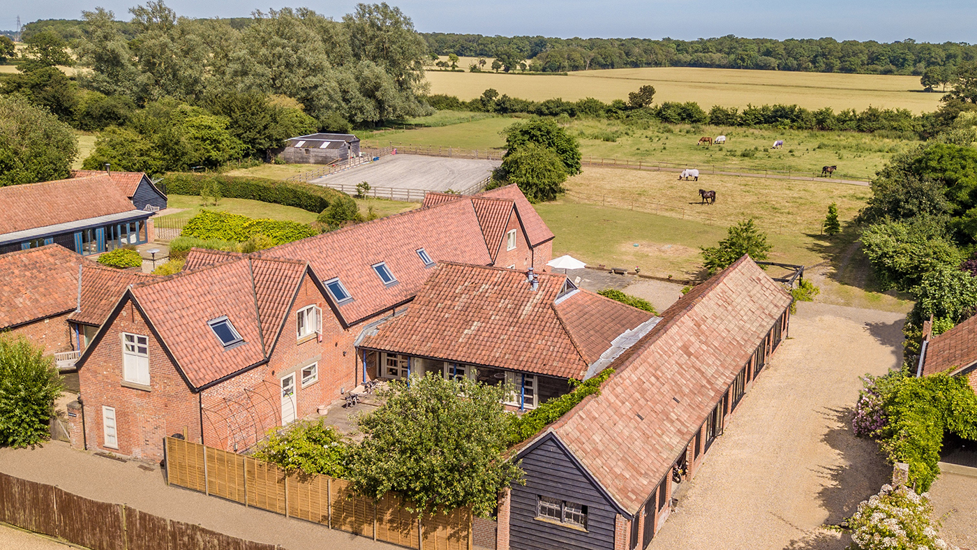 Fancy owning a five-bedroom barn conversion with stables, outdoor arena and six acres? - Horse & Hound