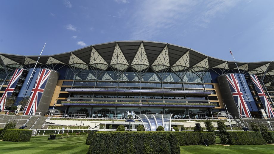 ASCOT, ENGLAND - JULY 27: A general view of the grandstand at Ascot Racecourse on July 27, 2018 in Ascot, United Kingdom. (Photo by Alan Crowhurst/Getty Images)