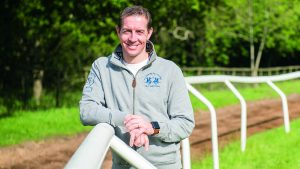 Jim Crowley at home with family