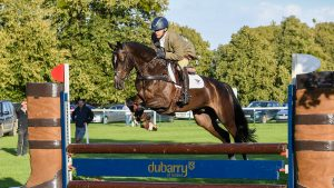 Ben Hobday riding Shadow Kingsman winner of the Dubarry Burghley Young Event Horse Four Year Old Final at the Land Rover Burghley Horse Trials in the grounds of Burghley House near Stamford in Lincolnshire in the UK between 5 - 8th September 2019