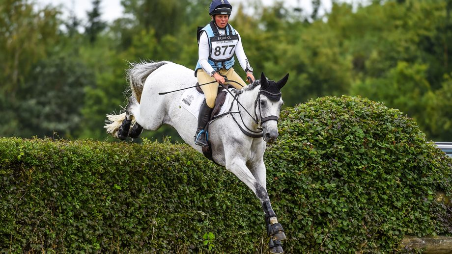 Kitty King riding CRISTAL FONTAINE in OI Section P during Aston le Walls (3) Horse Trials near Daventry in Northamptonshire in the UK on the 16th July 2020