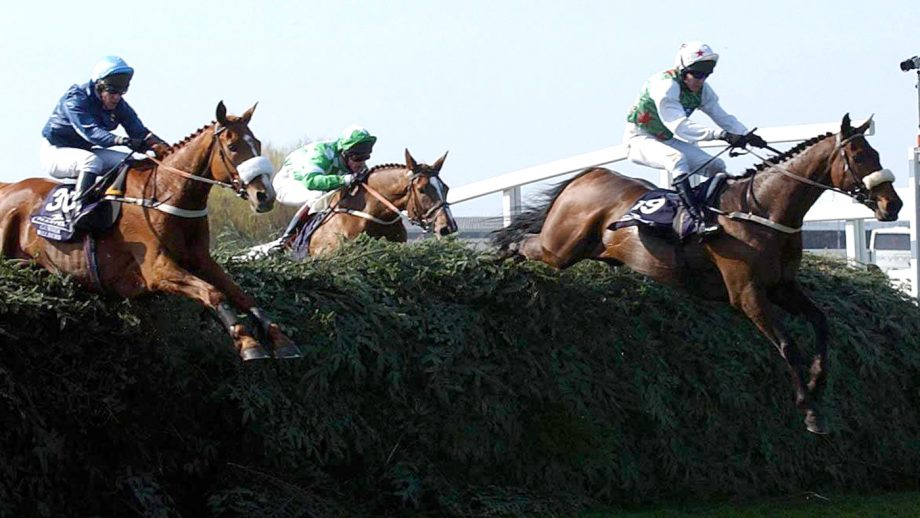 Grand National resutls Montys Pass and Barry Geraghty (right) jump their way to victory in the Grand National at Aintree Races, Liverpool.