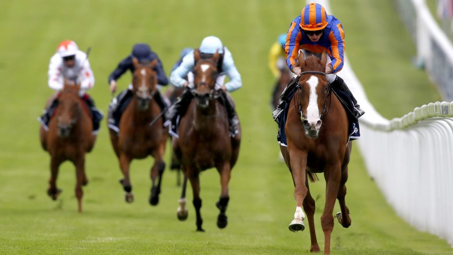 Royal Ascot betting day two Prince Of Wales's Stakes Love ridden by jockey Ryan Moore (right) wins the Investec Oaks at Epsom Racecourse.