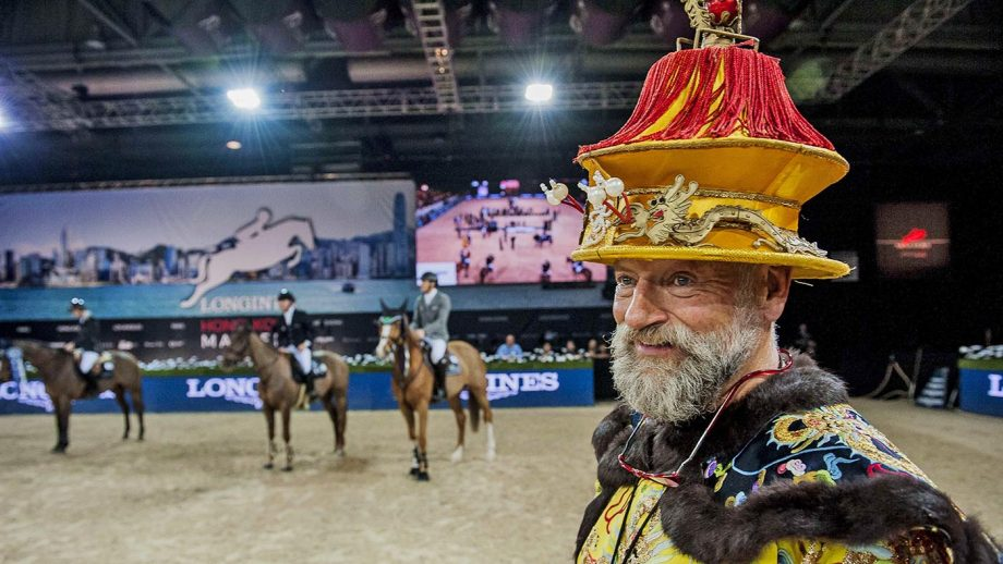 HONG KONG, HONG KONG SAR - FEBRUARY 15: Ringmaster Pedro Cebulka after the Longines Grand Prix during the Longines Hong Kong Masters 2015 at the AsiaWorld Expo on 15 February 2015 in Hong Kong, China. (Photo by Power Sport Images/Getty Images)