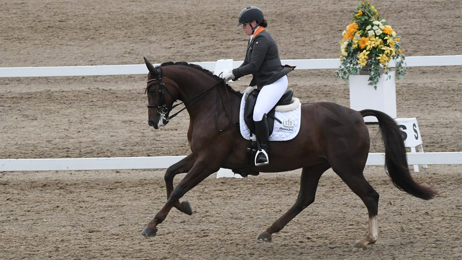 Alice Oppenheimer on Headmore Bella Ruby at the Winter Dressage Championships 2020