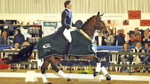 Dressage horse Abira with Charlie Hutton