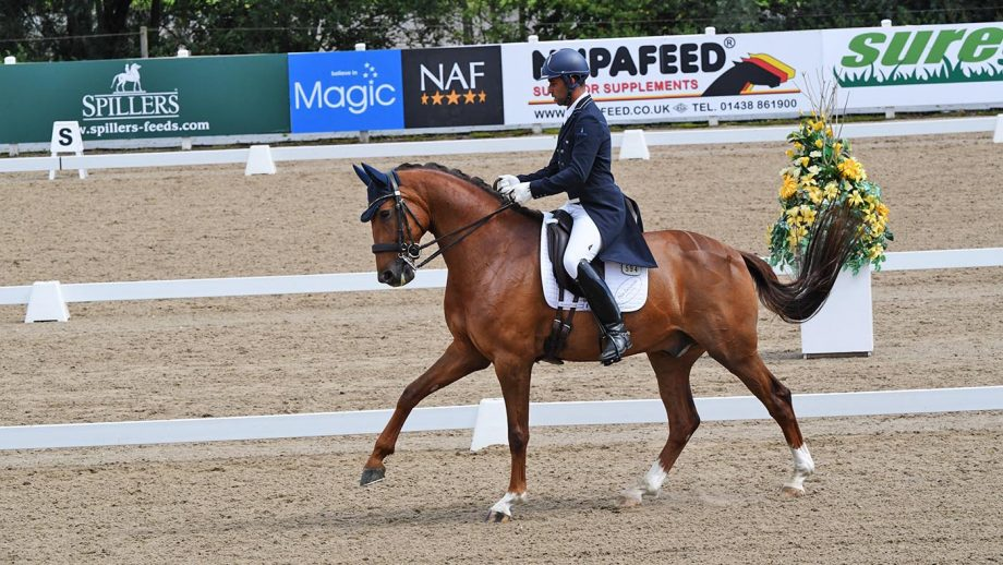 Dannie Morgan and Knoxx's Figaro, winners of the inter I at the Winter Dressage Championships 2020