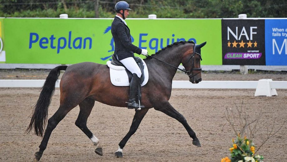 Gareth Bulley and Lorentina win the novice silver at the Winter Dressage Championships 2020