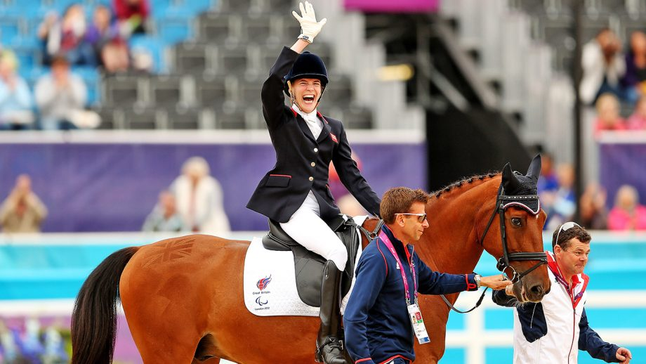 What is paralympic dressage? Sophie Christansen, pictured, is a top para dressage rider who has won multiple gold medals.