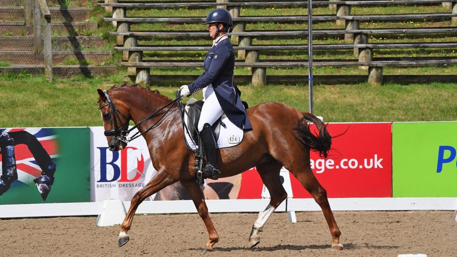 Jayne Turney and Cruz III win the PSG at the Winter Dressage Championships 2020