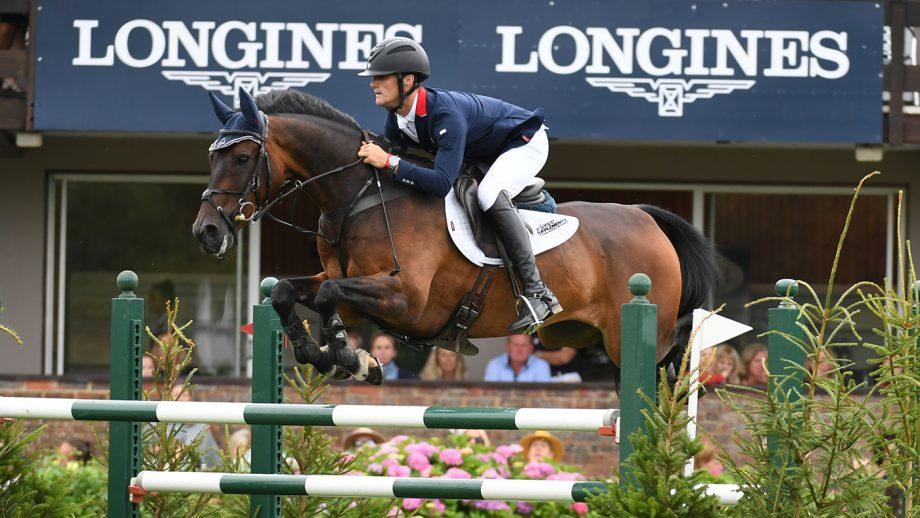 British showjumper Will Fletcher jumping his top horse Persimmon