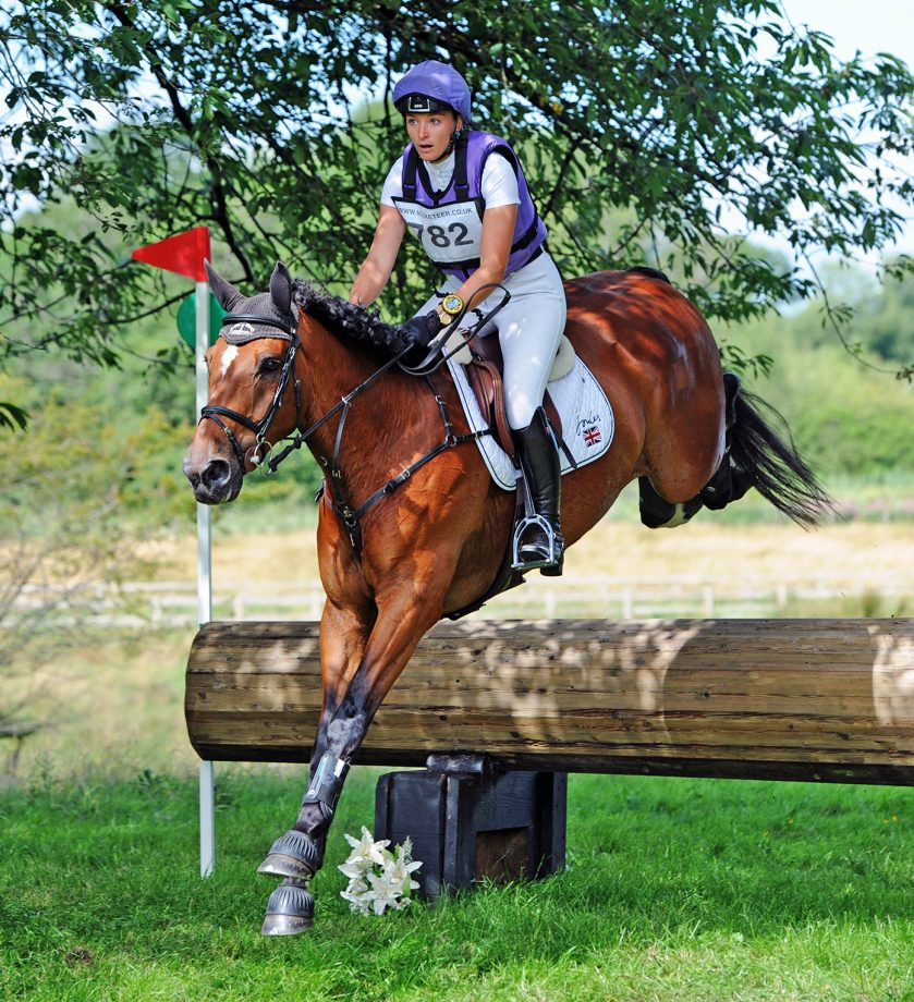 Emily King riding Valmy Biats to win at Cholmondeley Castle Horse Trials