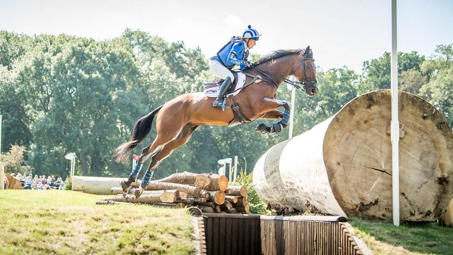 Imogen Murray and Ivar Gooden at Burghley Horse Trials.