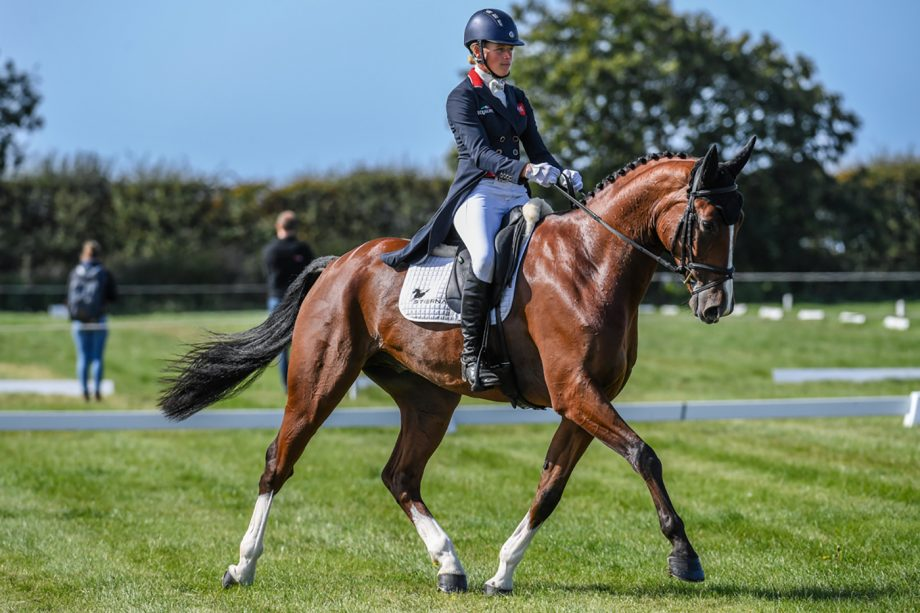Izzy Taylor and Hartacker on their way to leading the CCI4*-S at Burnham Market after the dressage