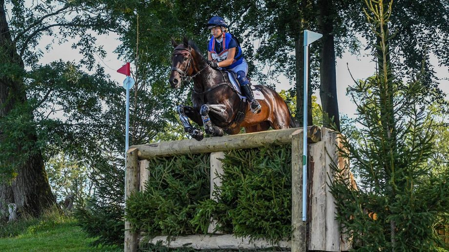 Phoebe Locke riding PICA D'OR in CCI-S Y3* Section B during the Cornbury House International held in Cornbury Park near Finstock in Oxfordshire in the UK on the 13th September 2020